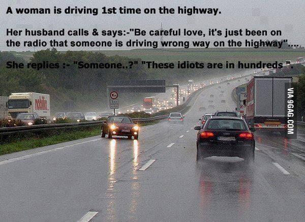 Drive carefully... I've heard an announcement