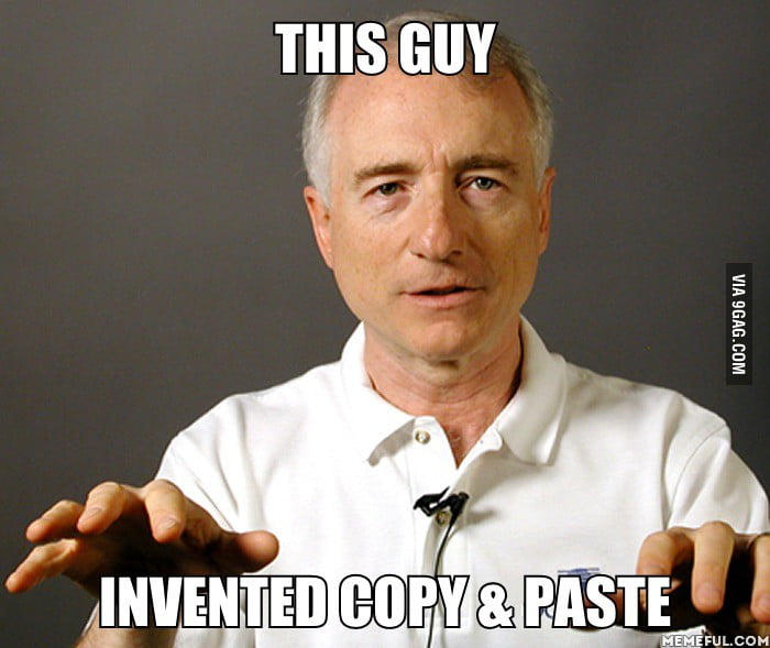 "His Name is Lawrence G. Tesler - the inventor of ""copy and paste"""