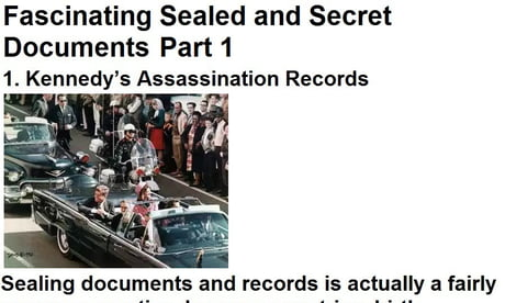 Fascinating Sealed and Secret Documents Part 1