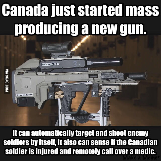 canada of all countries creating the first smart gun 9gag