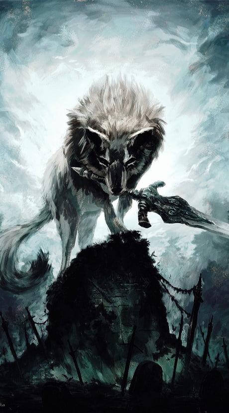 Grey Greatwolf Sif From Dark Souls 9gag