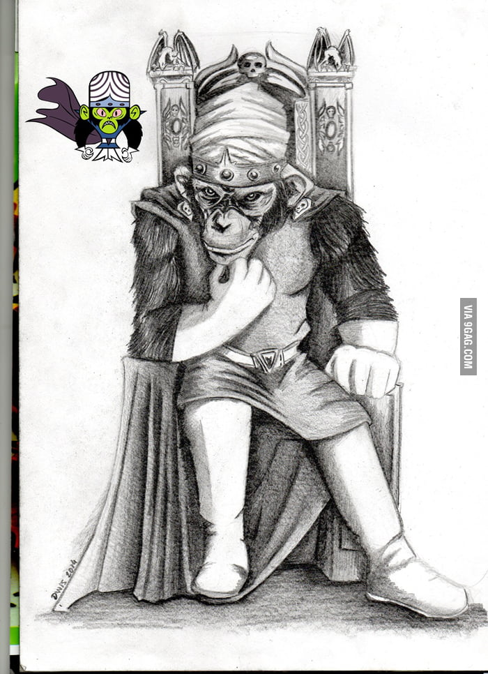 realistic version of powerpuff girls mojo jojo 9gag