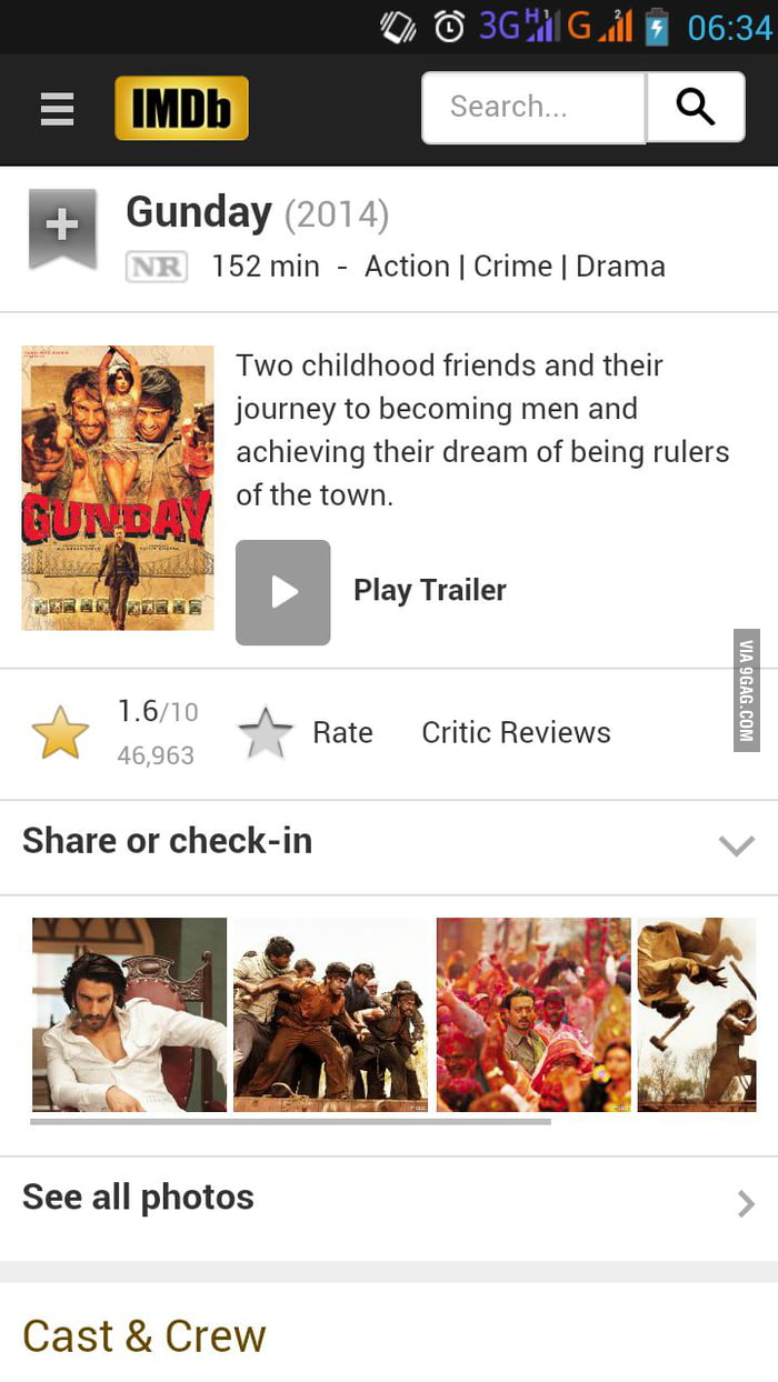 I present you the lowest rating movie on imdb  - 9GAG