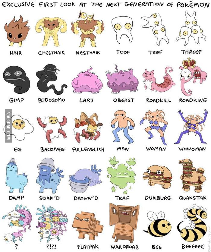 Seventh generation Pokemon - 9GAG