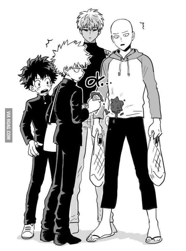 One Punch Man Meets My Hero Academia Legit Anime Crossover 9gag