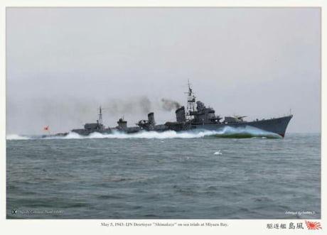 Uploading a warship picture everyday #28 IJN Shimikaze