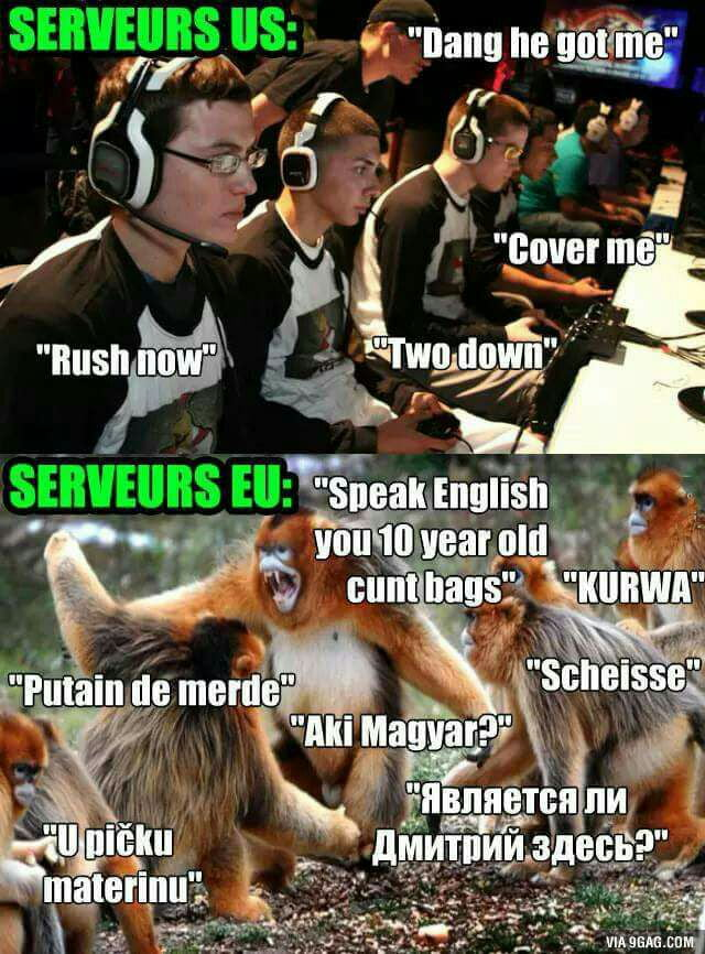 Diffrence between EU and USA servers