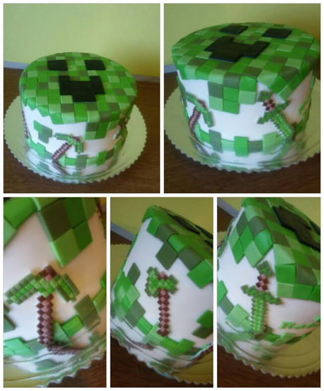 My mum and I made this for some 7 YO kid who loves minecraft ,I think it turned out great :D