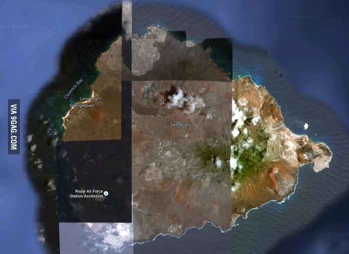 New Game Find The Worst Pic Of An Area On Google Maps Ascension - Ascension island google map