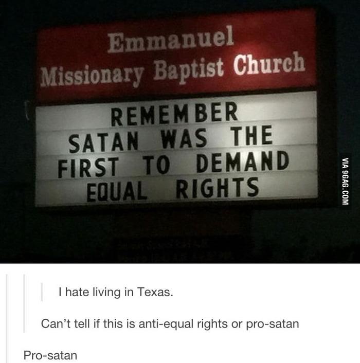 No doubt pro-satan...