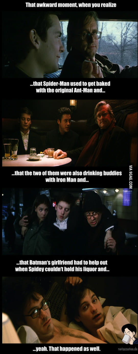 Spider-Man, Ant-Man and Ironman walk into a bar… Wonderboys, what a wonderful movie.