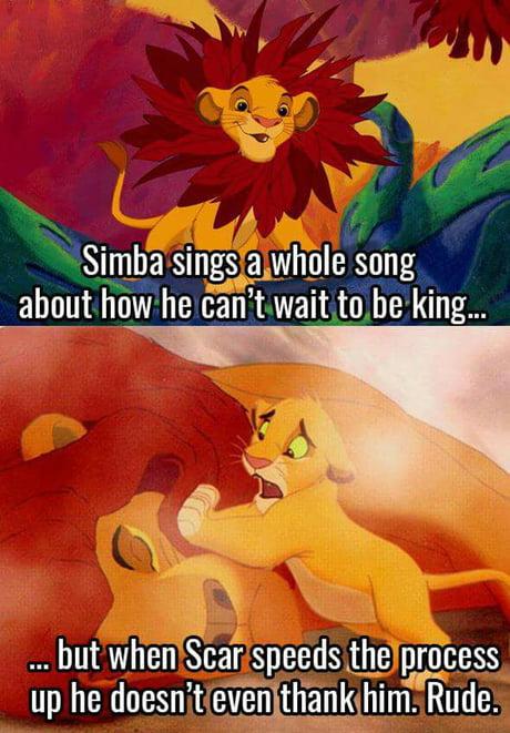 Unthankful Simba...