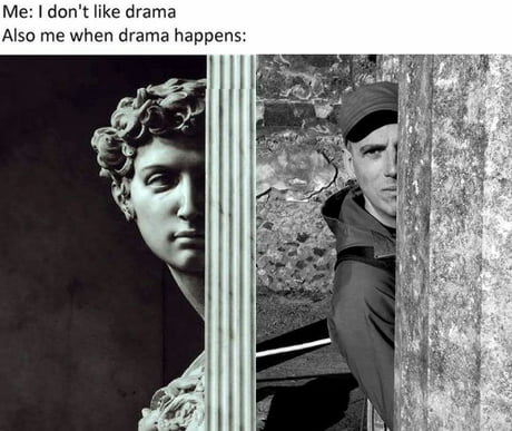 """Me trying to copy a """"classic art meme"""" in Pompeii"""