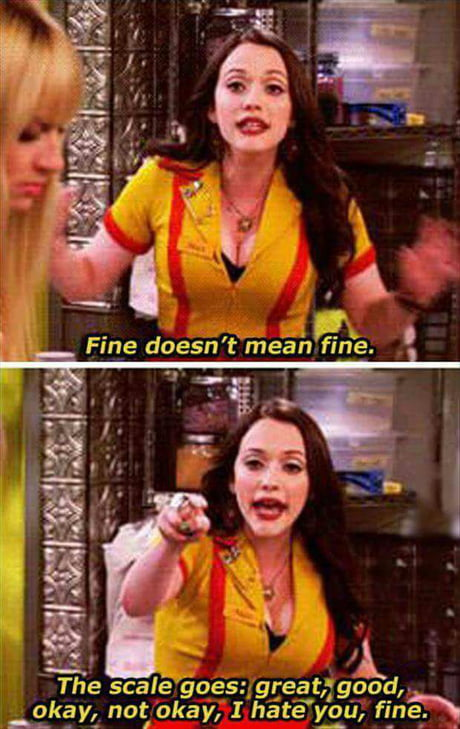 """What """"Fine"""" means on a scale"""
