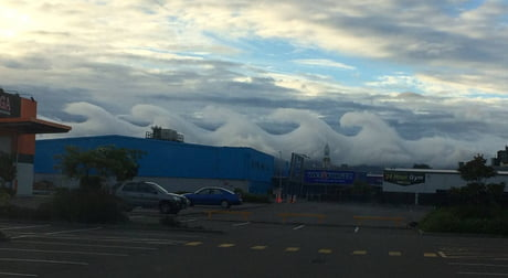 Wave clouds in Palmerston North, New Zealand.