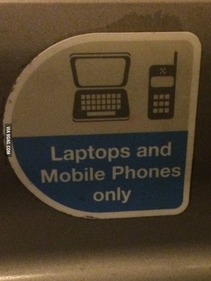 Saw on train  Shame can't use my microwave! - 9GAG