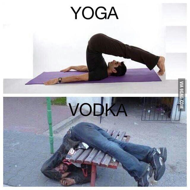Bilderesultat for yoga vs vodka