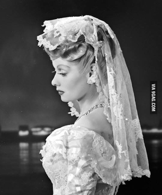 Lucille Ball On The Day Of Her Wedding To Desi Arnaz