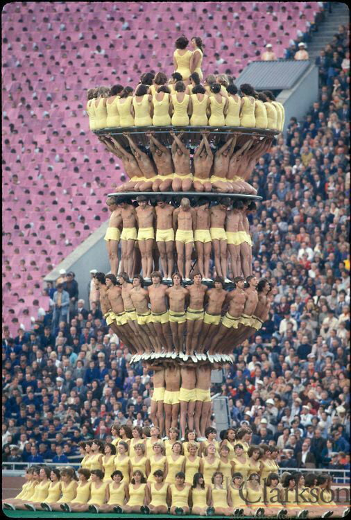 The opening ceremony of the Olympic games in Moscow,1980 - 9GAG