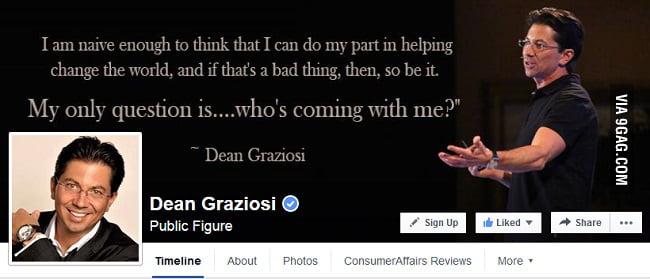 Dean Graziosi's Facebook Page - https://www.facebook.com/deangraziosipage