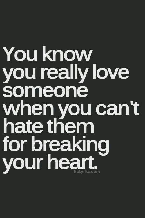 i just broke up