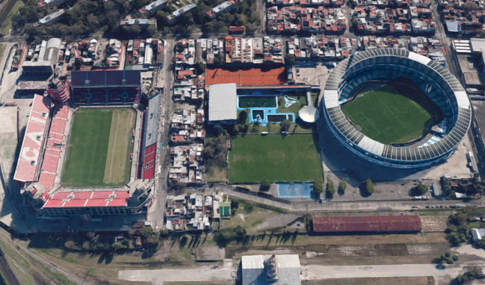 Stadiums Of Independiente And Racing Club Derby Of Avellaneda